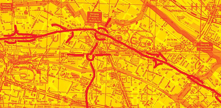 Ausschnitt Falk-Plan Berlin, Ausgabe 1977